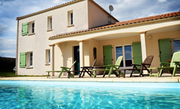 Heated swimming pool at Villa Vendee